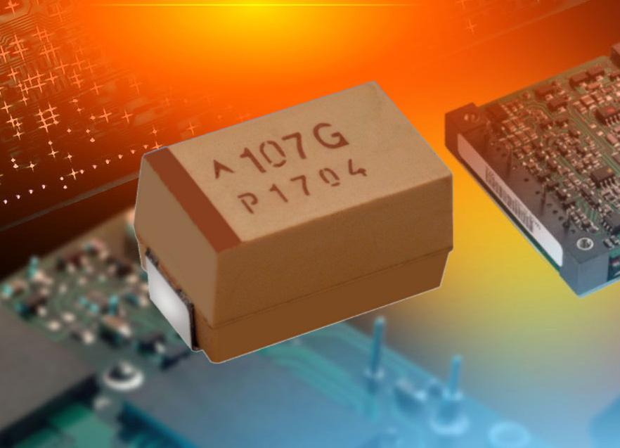 AVX wprowadził pierwsze polimerowe kondensatory tantalowe SMD do zastosowań o wysokich napięciach roboczych do 75V