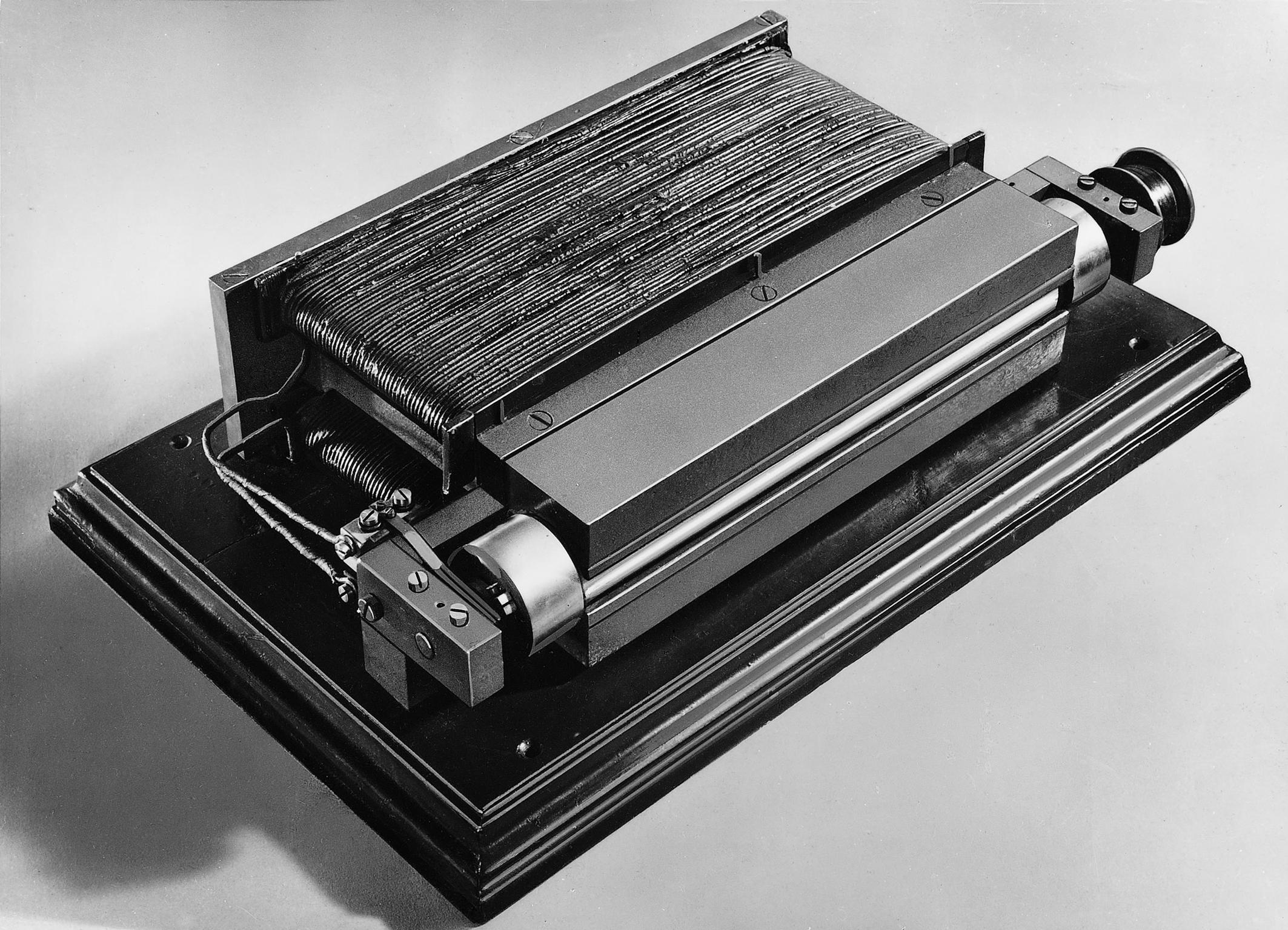 Urządzenie, na którym Werner von Siemens zademonstrował zasadę dynamo-elektrycznych w 1866 roku