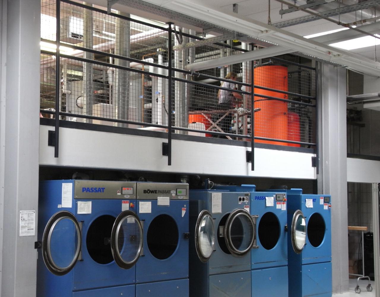 Wykorzystanie energii słonecznej w procesach termiczych w pralni, © Fraunhofer ISE
