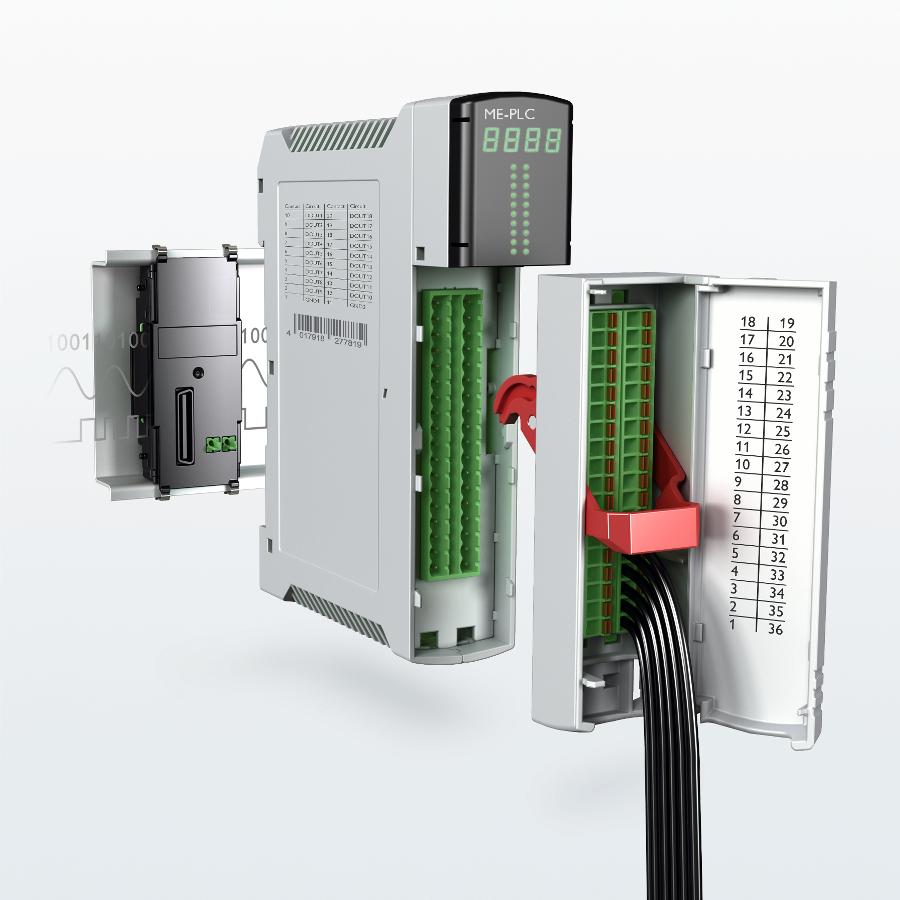 Fot. 4: Nowa na rynku obudowa ME-PLC – dużo miejsca w środku, rozbudowana magistrala, zintegrowany system przyłączy.